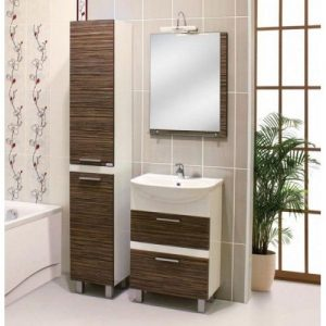 Шкаф для ванной Zebrano