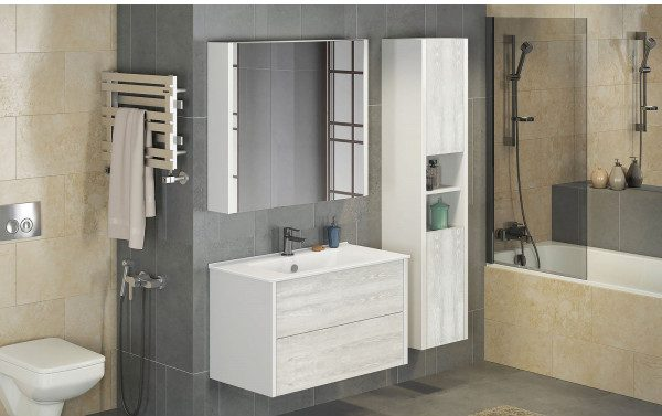 Шкаф-колонна для ванной Женева