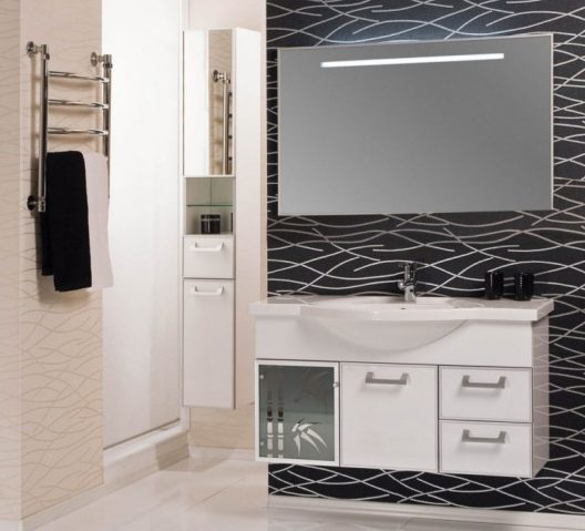 Шкаф-колонна для ванной Сайгон