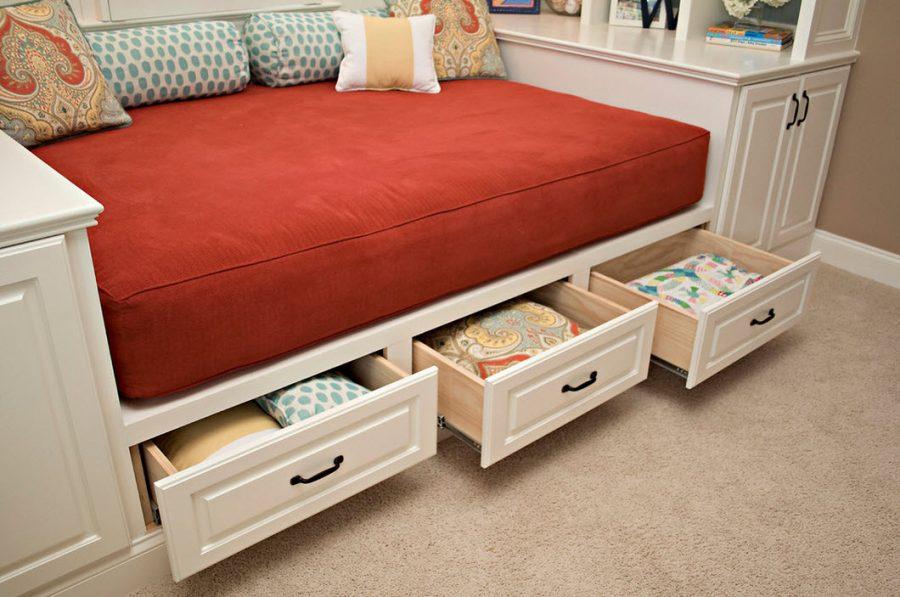 Кровать с ящиками для хранения Лагуна