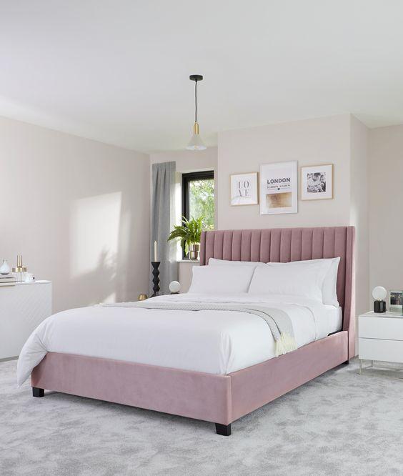 Мягкая кровать с подъёмным механизмом Luce