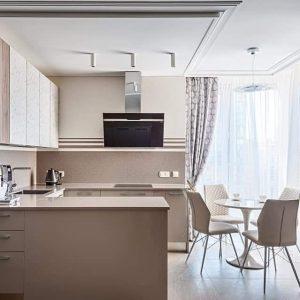 Кухня в дизайне «под камень»