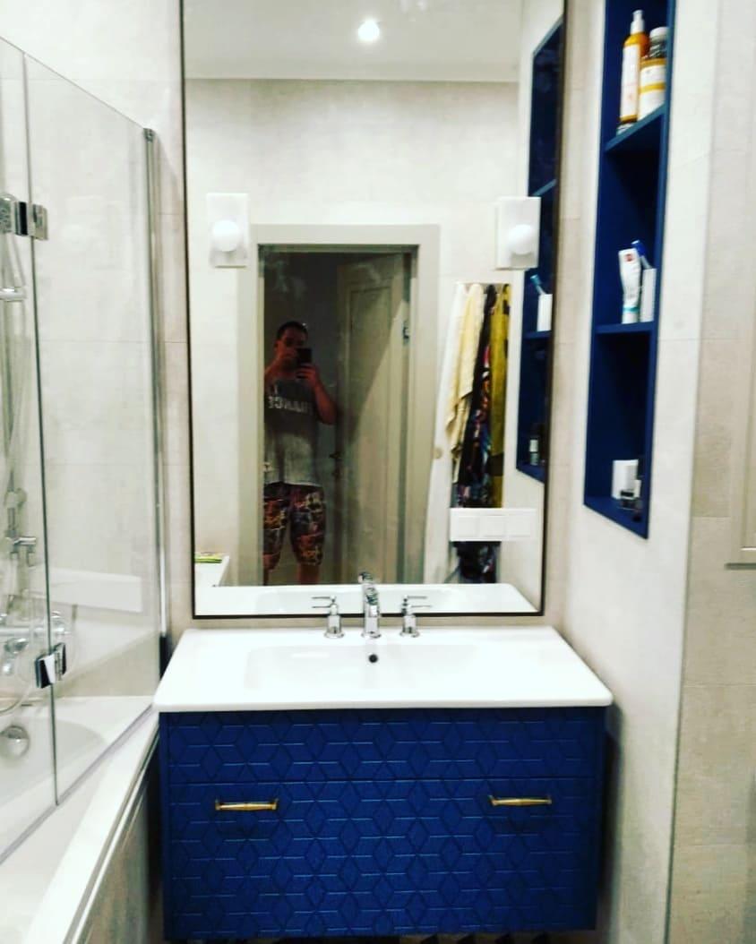 Ансамбль в ванную комнату с фрезеровкой