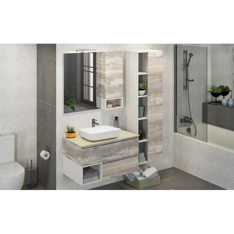 Шкаф-колонна для ванной Турин