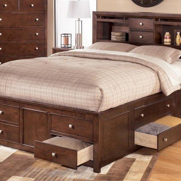 Кровать с ящиками для хранения Гефест