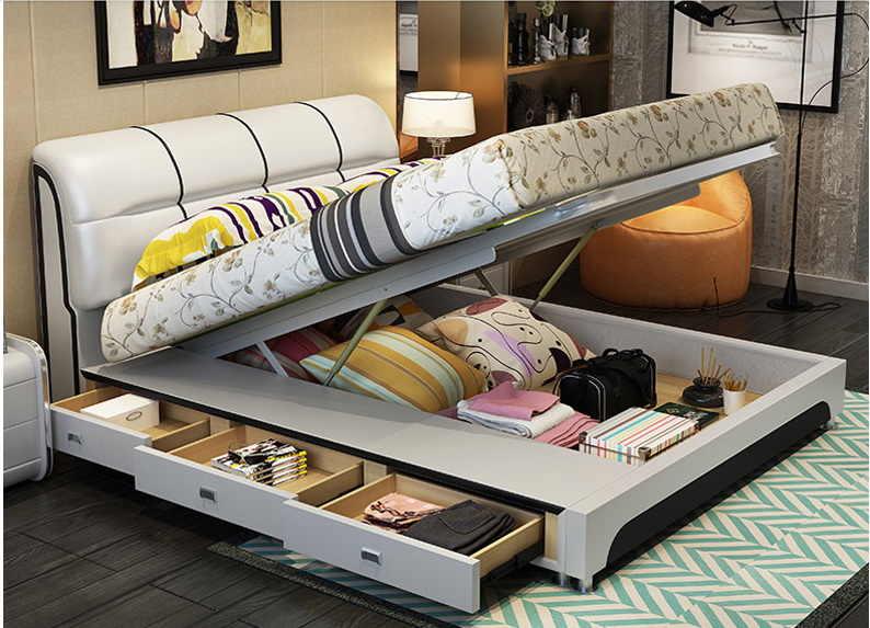 Кровать с ящиками для хранения Лацио