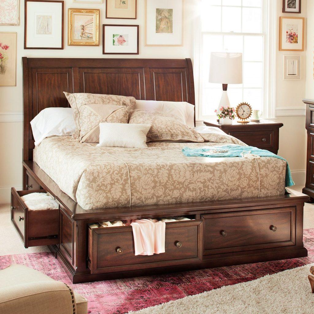 Кровать с ящиками для хранения Луиза