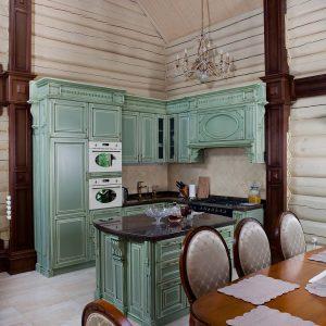 Волшебная классическая бирюзовая кухня