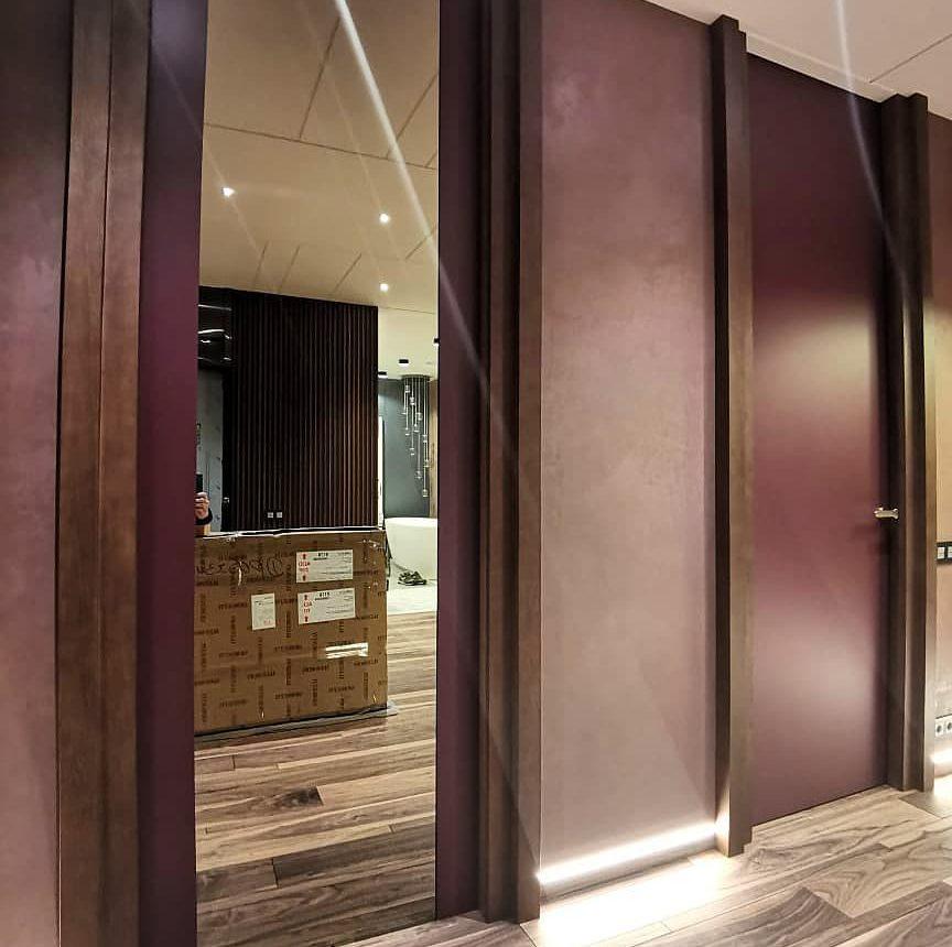 Дизайнерские двери под потолок